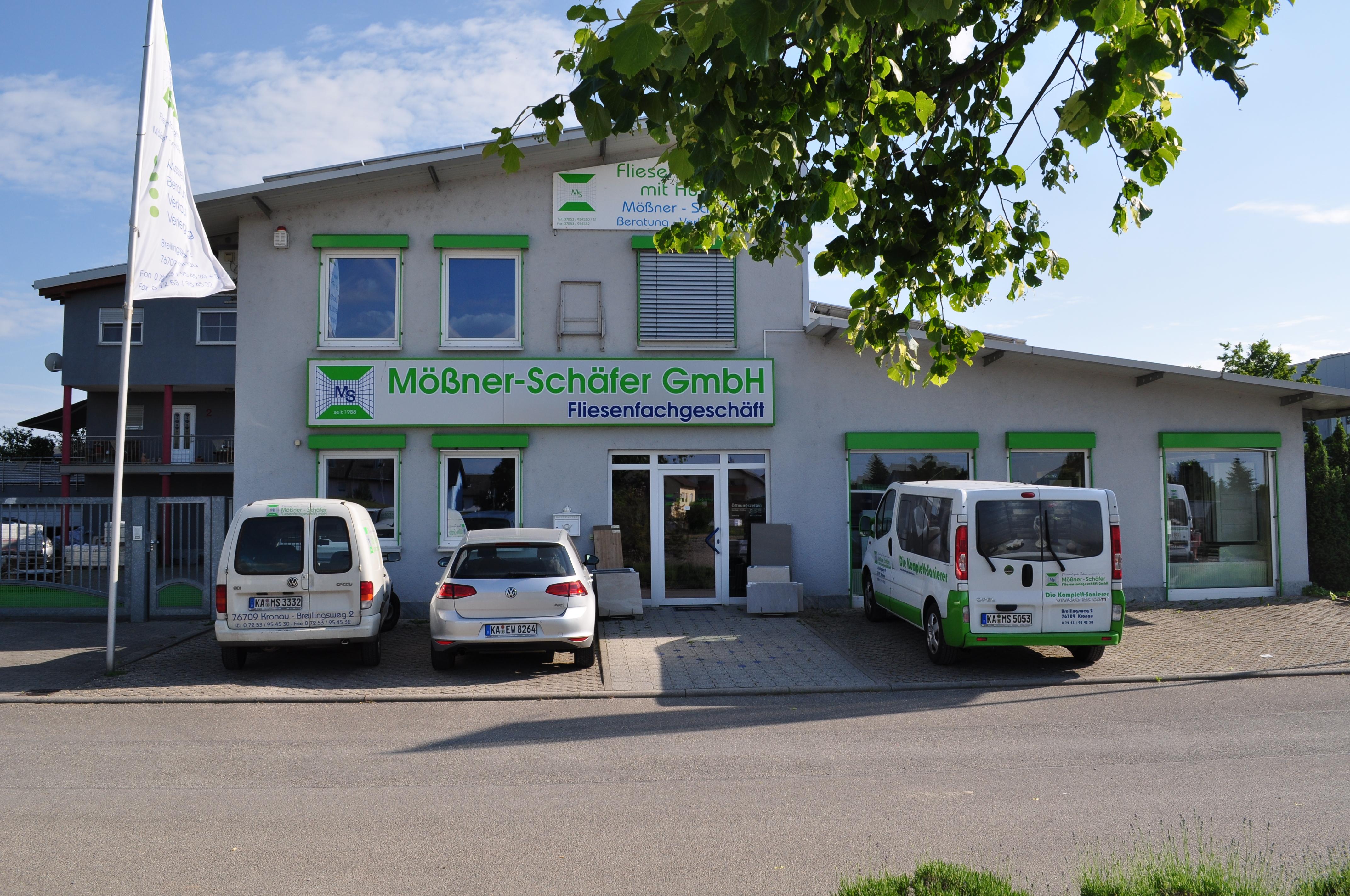 Die Firmenzentrale des Fliesenfachgeschäft Mössner und Schäfer.